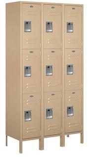 3 Tier Metal Lockers