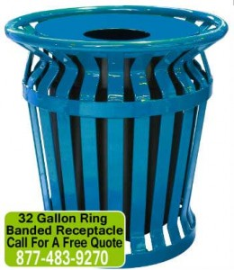 Commercial Outdoor Metal Trash Cans & Receptacles For Sale Manufacturer Direct Guarantees Lowest Price