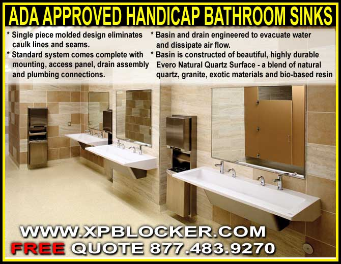 ADA Approved Commercial Handicap Bathroom Sinks On Sale Now XPB Extraordinary Ada Commercial Bathroom Minimalist