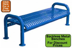 Commercial Backless Metal Park Benches For Sale Direct From The Factory Prices