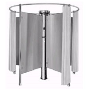 Column Shower with Dividers and Curtins