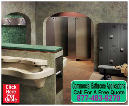 Commercial Restroom Applications For Sale Including Sink, Hand Dryers, Soap Dispensers & Restroom Partitions