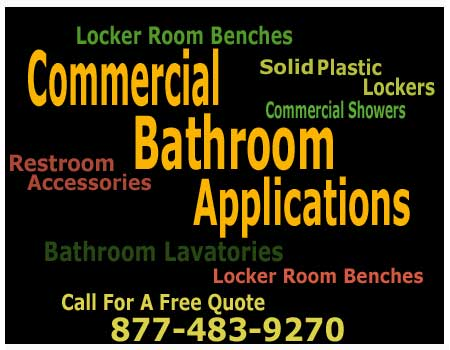 Commercial Bathroom Locker Room Applications Including Storage Lockers, Locker Room Benches & Shower Stalls For Sale Direct From The Factory Saves You Money Today!