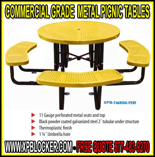 Shopping Commercial Grade Metal Picnic Tables What Are The Options - Metal picnic table with umbrella