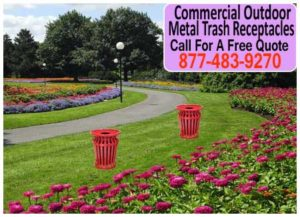 Commercial-Outdoor-Metal-Trash-Receptacles