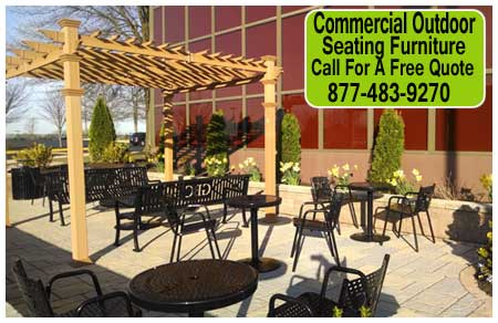 Commercial Outdoor Seating Furniture Is Ideal For Public