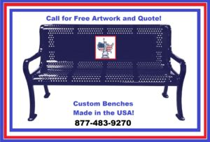 Make a statement with your Personalized Bench