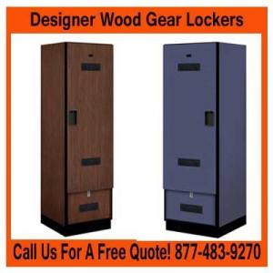 Designer Wood Gear Storage Lockers