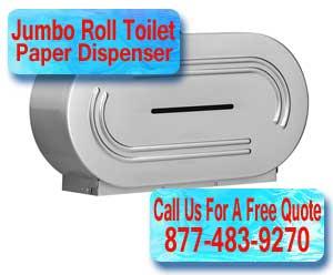 Industrial Dual Jumbo Roll Toilet Paper Dispenser