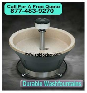 durable commercial wash fountains For Sale