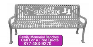 Quality Outdoor Family Memorial Benches Customized With Your Words Or Logo Factory Direct Discount Prices