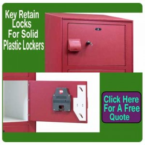 Key-Retain-Lock-For Solid-Plastic-Lockers