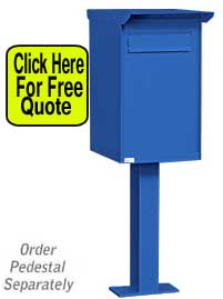 Commercial USPS Approved Mail Drop Box With Lock And Pedestal For Sale