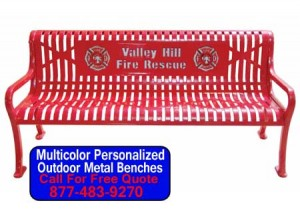 Discount Commercial Multicolor Personalized Outdoor Metal Benches