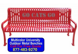 Multicolor University Custom Iron Benches For Sale Direct From The Factory Low Prices