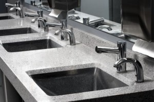 4 Station Commercial Restroom Sinks & Lavatory Counter Tops For Sale Direct From The Manufacturer Saves You Time And Money