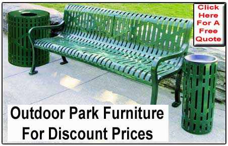 Commercial Outdoor Park Benches For Sale - Cheap Manufacturer Direct Prices