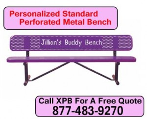 Personalized-Standard-Perforated-Metal-Bench