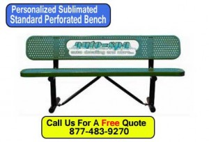 Discount Personalized Sublimated Standard Customized Park Benches For Sale Factory Direct