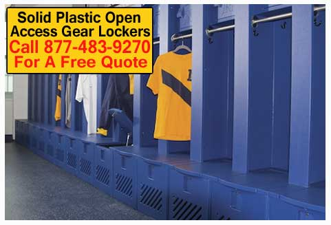 Discount Solid Plastic Open Access Gear Lockers For Sale Manufacturer Direct Prices - Quick Ship For The Do It Yourself-er DIY