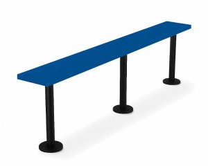 Solid Plastic Lenox Pedestal Locker Room Benches For Sale Factory Direct