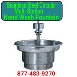 Discount Stainless Steel Circular Multi-Station Hand Wash Fountains For Sale Manufacturer Direct Means Lowest Price