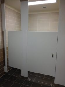Heavy Duty Solid Plastic Restroom Dividers