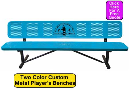 Custom Two Color Custom Metal-Players Benches