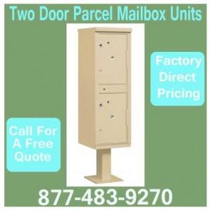Two-Door-Parcel-Mailbox-Units