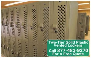 Discount Commercial Two Tier Solid Plastic Vented Storage Lockers For Sale Direct From The Manufacturer