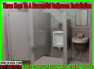 Commercial Bathroom Installaiton