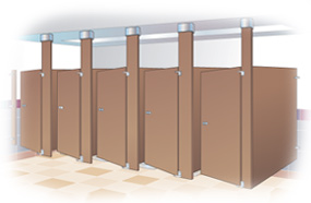 Commercial ceiling hung baked enamel urinal partitions For Sale Factory Direct