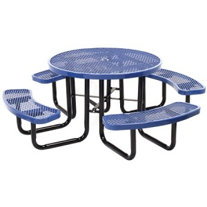Discount Round Angle Iron Picnic Table For Sale Factory Direct Prices Save You Money Guranateed