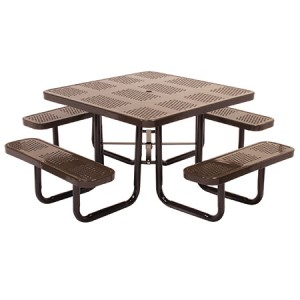 Discount Square Perforated Metal Picnic Table For Sale Direct From The Factory Guarantees Lowest Price