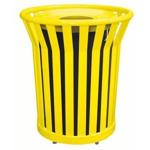 Commercial Trash Can Receptacle With Spun Metal Lid For Sale Factory Direct